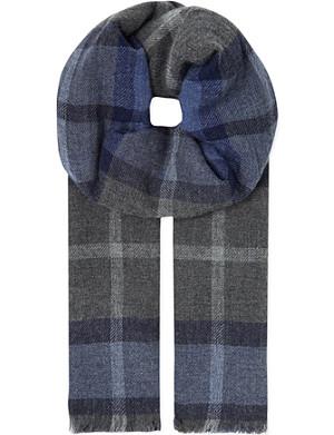 BRUNELLO CUCINELLI Cashmere check scarf