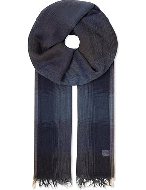 BRUNELLO CUCINELLI Degrade plaid scarf