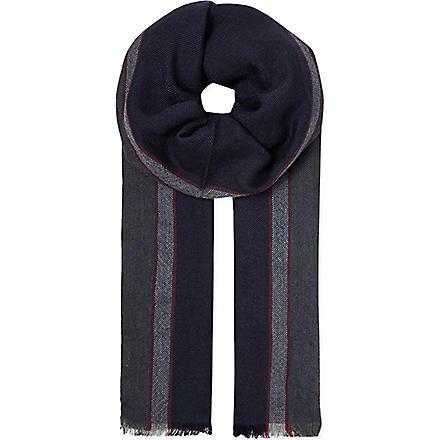 BRUNELLO CUCINELLI Cashmere-blend scarf (Blue