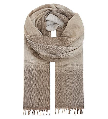 BRUNELLO CUCINELLI Blended hue wool & cashmere scarf (Beige
