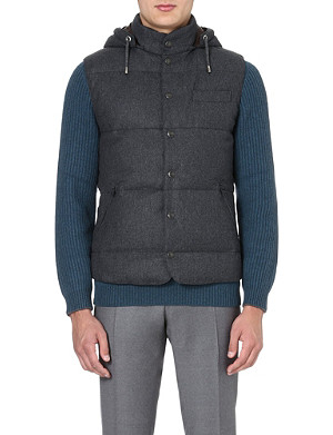 BRUNELLO CUCINELLI Quilted wool-blend gilet