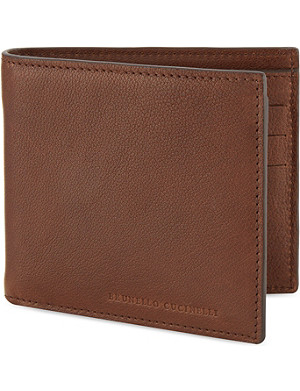 BRUNELLO CUCINELLI Leather billfold wallet
