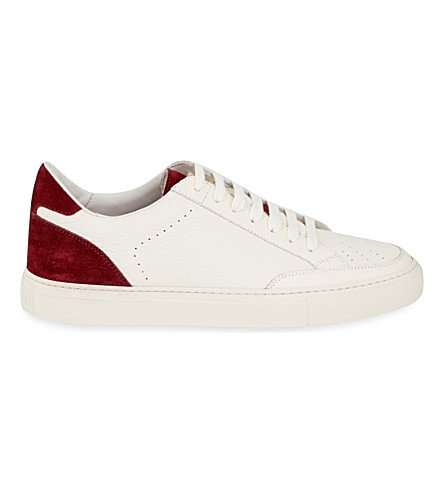 BRUNELLO CUCINELLI Low-top suede and leather trainers (6293+6379