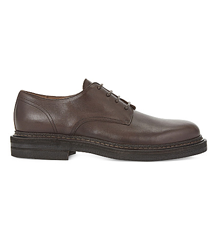 BRUNELLO CUCINELLI Leather Derby shoes (Dark+brown
