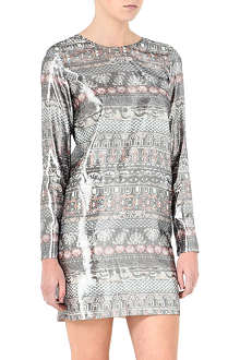 KENZO Metallic long-sleeve dress