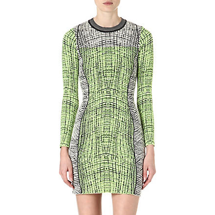 KENZO Graphic-print knitted mini dress (Black
