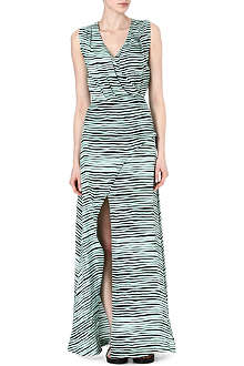 KENZO Striped silk maxi dress