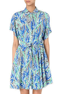 KENZO Cubic floral-print shirt dress