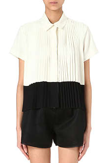KENZO Colour-block pleated shirt