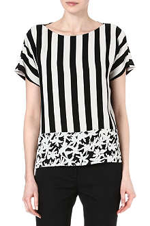 KENZO Striped palm tree panel top