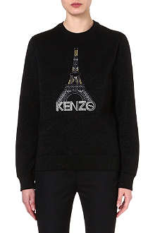 KENZO Embroidered Eiffel Tower sweatshirt
