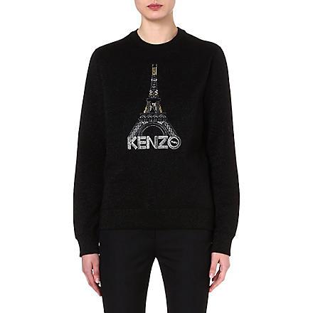KENZO Embroidered Eiffel Tower sweatshirt (Black