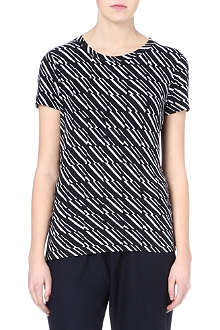 KENZO Striped square-print t-shirt