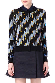 KENZO Jewelled knitted cardigan