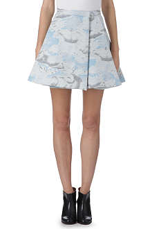 KENZO Cloud-print wool-blend skirt