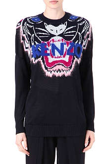 KENZO Long Blue Eyes jumper