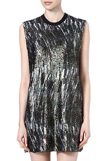 KENZO Sleeveless metallic dress