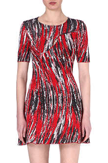 KENZO Wave-print jacquard dress