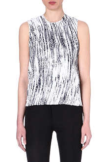 KENZO Sequin-embellished wave-print top