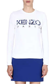 KENZO Abstract cotton jersey sweatshirt