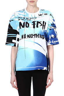 KENZO No Fish No Nothing cotton t-shirt