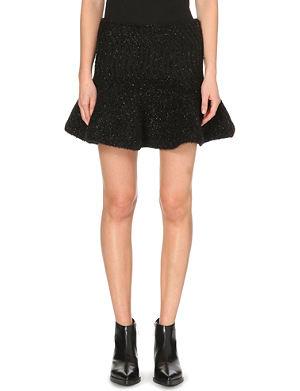 KENZO Metallic knit skirt