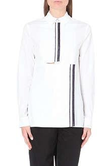 KENZO Stripe-detail cotton-poplin shirt