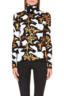 KENZO Graphic Monster high-neck jumper