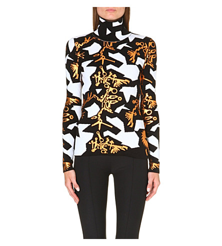 KENZO Graphic Monster high-neck jumper (White