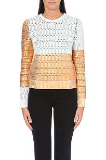 KENZO Metallic block knitted jumper