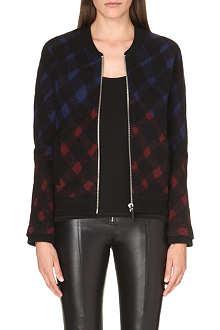 KENZO Tartan wool-blend jacket