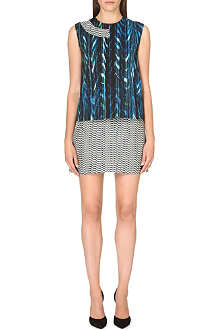 KENZO Ottoman distortion-print shift dress