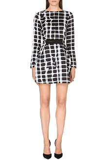 KENZO Plaid-print double-twill dress