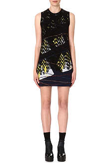 KENZO Twin Peak jacquard-knit dress