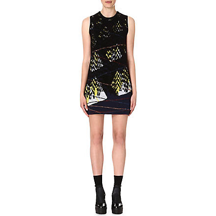 KENZO Twin Peak jacquard-knit dress (Black