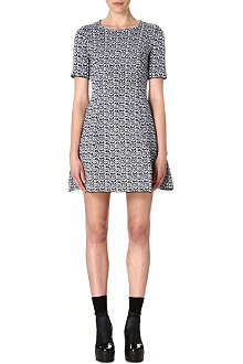 KENZO White Noise jacquard-knit dress