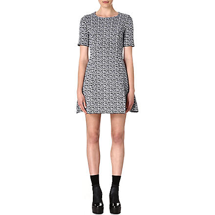 KENZO White Noise jacquard-knit dress (Black
