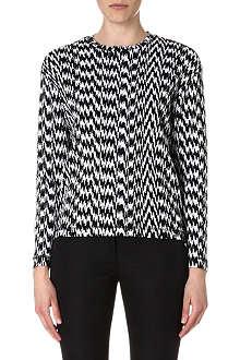 KENZO White Noise jacquard-knit jumper