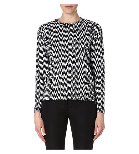 KENZO White Noise jacquard-knit jumper (Black