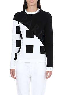 KENZO Molleton square print sweatshirt