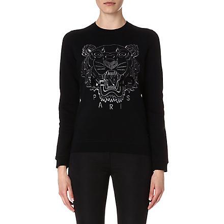 KENZO Tiger embroidered sweatshirt (Black