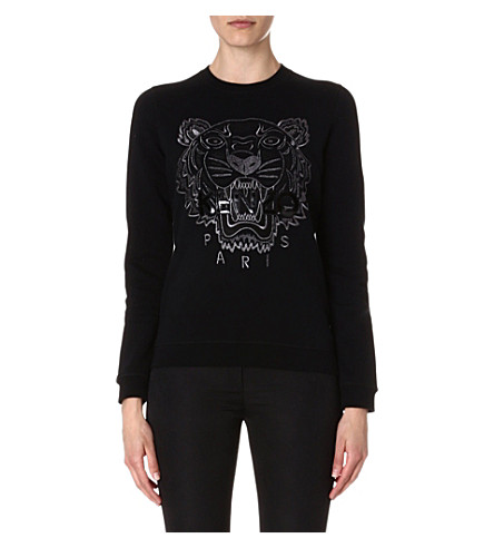 KENZO Tiger embroidered sweatshirt (Black