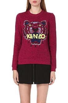 KENZO Flecked-effect jersey sweatshirt