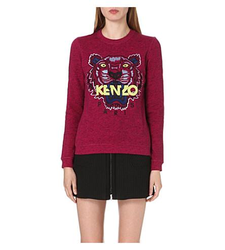 KENZO Flecked-effect jersey sweatshirt (Fuchsia