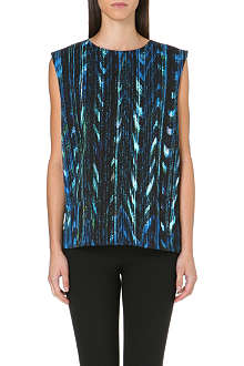 KENZO Ottoman Distortion printed top