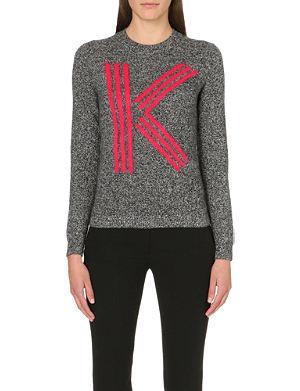 KENZO Intarsia wool branded jumper