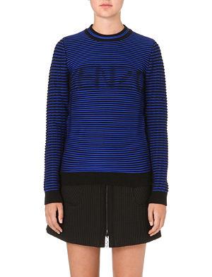 KENZO Ribbed cotton-blend sweatshirt