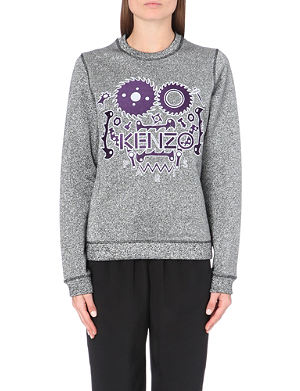 KENZO Monster metallic-flecked sweatshirt