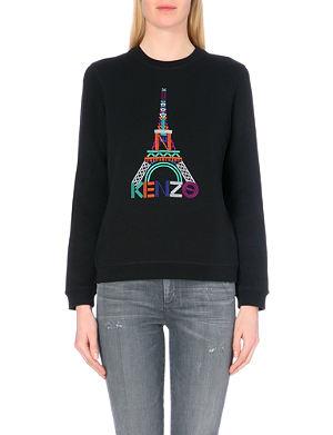 KENZO Eiffel Tower cotton-jersey sweatshirt