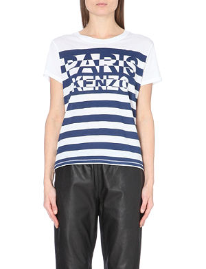 KENZO Paris striped jersey t-shirt